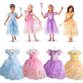 Girl Dresses 2017 Fashion Cinderella Elsa Anna Princess Short Sleeve for Kids Girls Party Dress Christmas Girls Cosplay Costume