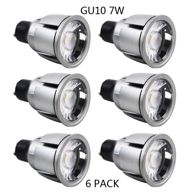 Lagpousi 6 Pack GU10 7W COB Not Dimmable LED Light Bulbs 60W Halogen Bulbs Equivalent  sc 1 st  AliExpress.com & Lagpousi 6 Pack GU10 7W COB Not Dimmable LED Light Bulbs 60W ...