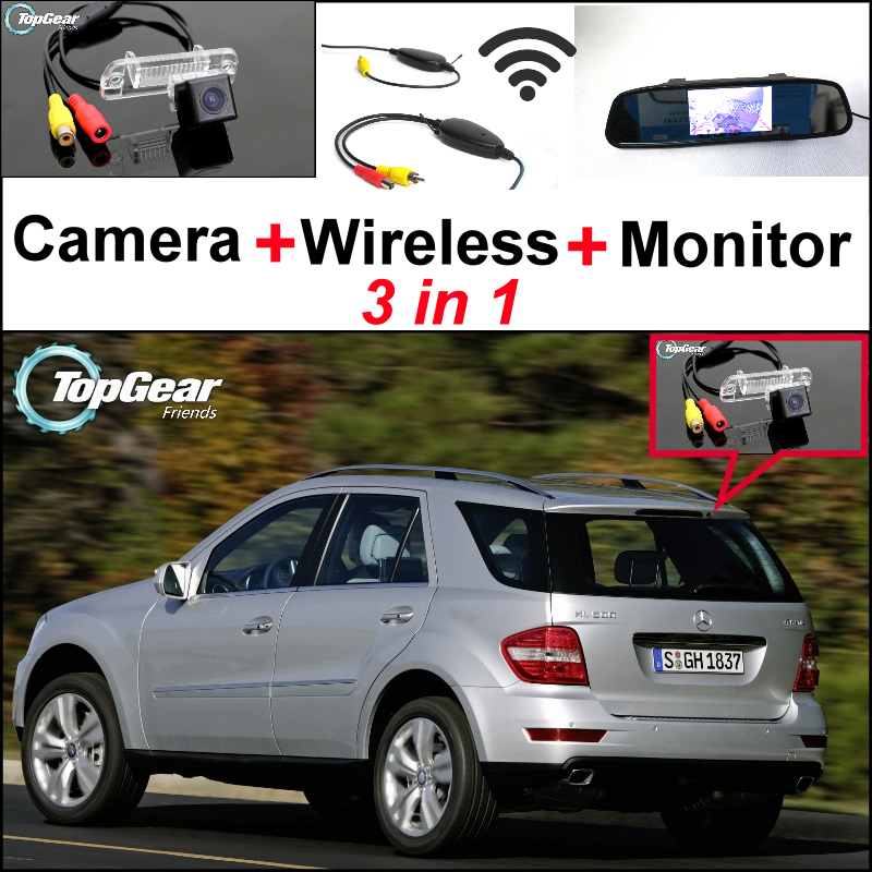 3 in 1 Special WiFi Camera + Wireless + Mirror Monitor Rear View Parking Back Up System For Mercedes Benz ML M MB W164 for ford escape maverick mariner car parking sensors rear view back up camera 2 in 1 visual alarm parking system