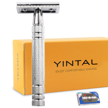 Razors for Shaving Men Double Edge Razor Bright Brass Blade Replaceable Chrome Manual Classic Safety Razor mens razors men manual shavers classic safety razor manual shaving