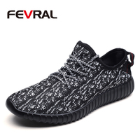 FEVRAL Для мужчин повседневная обувь сезон: весна–лето дышащие кроссовки модная обувь на шнуровке удобная сетчатая обувь унисекс для Для мужч...