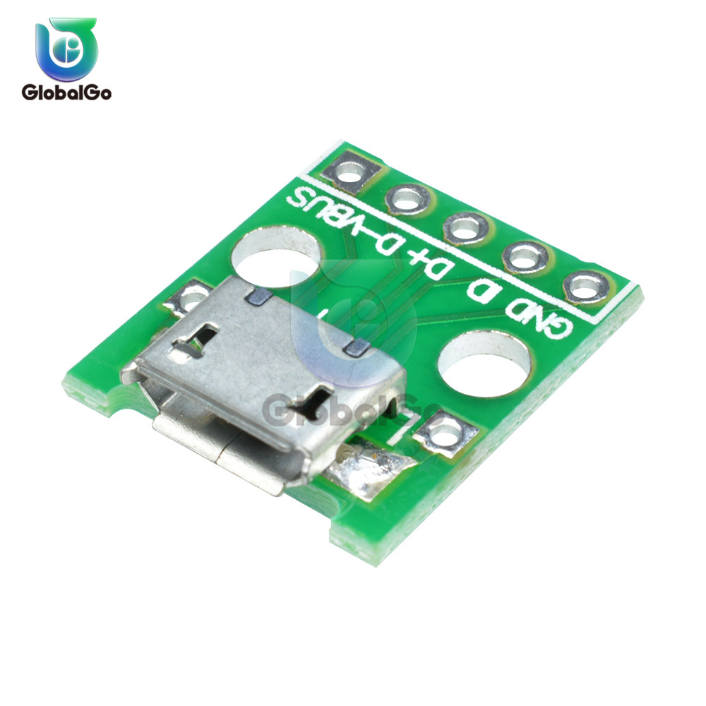 <font><b>Micro</b></font> <font><b>USB</b></font> DIP Adapter Male Female <font><b>Connector</b></font> Type B Type A Mini <font><b>USB</b></font> <font><b>Connector</b></font> Port Sockect Panel <font><b>PCB</b></font> Converter Breadboard image