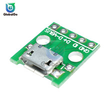 Micro USB DIP Adapter Male Female Connector Type B A Mini Port Sockect Panel PCB Converter Breadboard