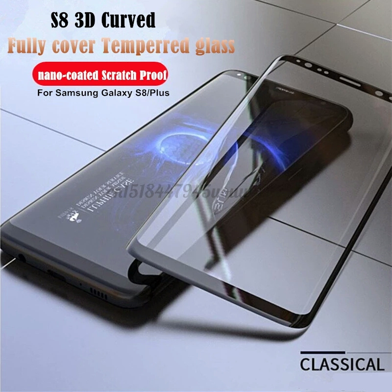 For Samsung Galaxy 7 edge Full Cover Tempered Glass On Samsung glas S8plus covers S 8 S6 edge S7edge Screen Protector Film case
