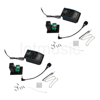 5 Band Acoustic Guitar Preamp EQ Equalizer Piezo Pickup Tuner Amplifier LCD Mic 2 Set