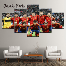 Canvas Painting soccer ball Team football team 5 Pieces Wall Art Painting Modular Wallpapers Poster Print living room Home Decor nike catalyst team soccer ball