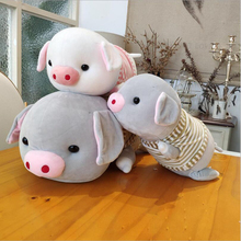 New Cute Wearing Clothe Pig Plush Toys Stuffed Animal Pig Doll Toy Soft Plush Pillow Children Birthday Gifts fancytrader large soft stuffed lying pig plush pillow big animal pigs doll toy 100cm 39inch nice birthday gifts