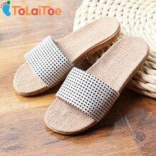 ToLaiToe Mode New Linge de Maison Plaid Slipper Hommes Printemps Été Frais Sueur EVA Non-slip Confortable Pantoufle Chaussures