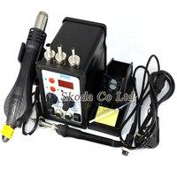 2 In 1 Multifunction 8586 SMD Hot Air Rework Station Soldering Station 3pcs 858 Nozzle 110V