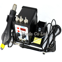 2 In 1 Multifunction 8586 SMD Hot Air Rework Station Soldering Station 3pcs 858 Nozzle 110V