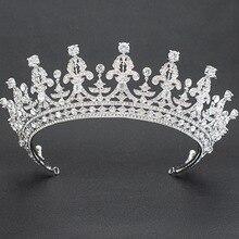 2018 New Rhinestone Crystal 2/3 Round Wedding Bridal Tiara Crown Diadem Women Hair Accessories Jewelry 05365L