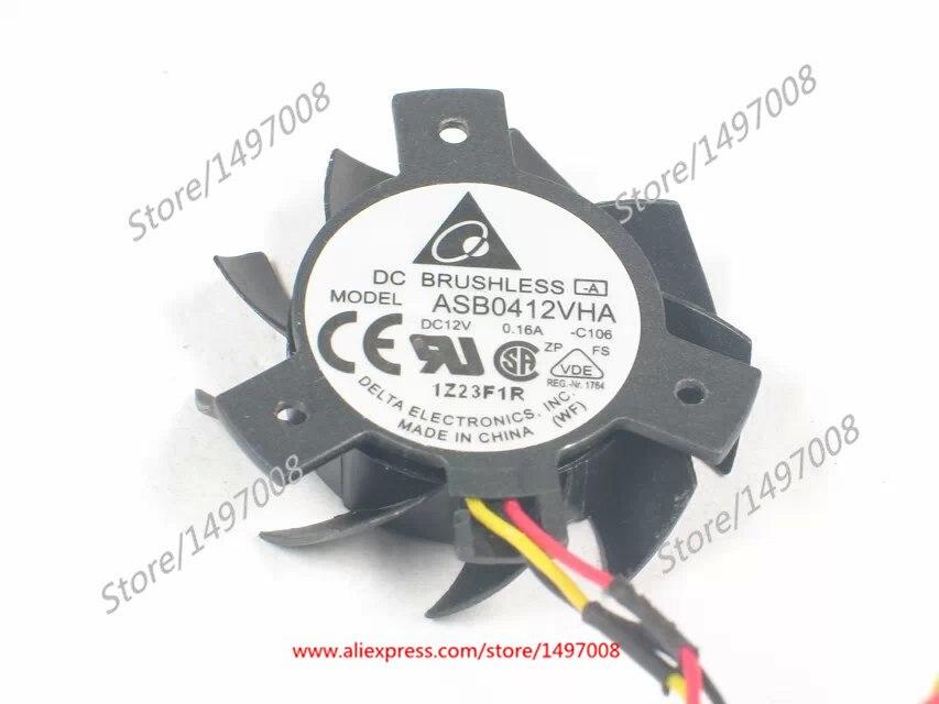 Delta ASB0412VHA C106 DC 12V 0.16A 23x23x20mm Server Square fan