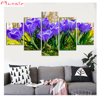 tulip Diamond painting Cross Stitch,Diamond Embroidery,purple flower scenery,gift,Mosaic diamond,sticker, Multi pictures,decor