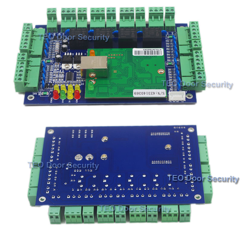 Four Door Network Access Control Panel Board With Software Communication Protocol TCP IP board Wiegand Reader