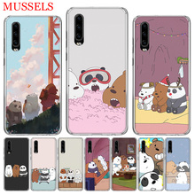 Three Bears Lovely Phone Case for Huawei P30 P20 Mate 20 10 Pro P10 Lite P Smart + Plus 2019 Customized Cover Cases Capa Coque