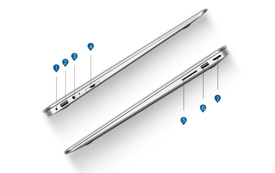 Jumper EZbook i7 14'' laptop Intel i7-4500U notebook 4G DDR3 128GB SSD Windows 10 ultrabook FHD 1920 x 1080 netbook laptop stock (9)