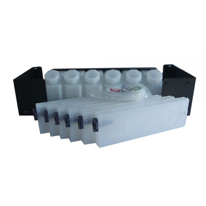 6 Bottles 6 Cartridges Bulk Ink System with Vertical Cartridges For Roland Printer