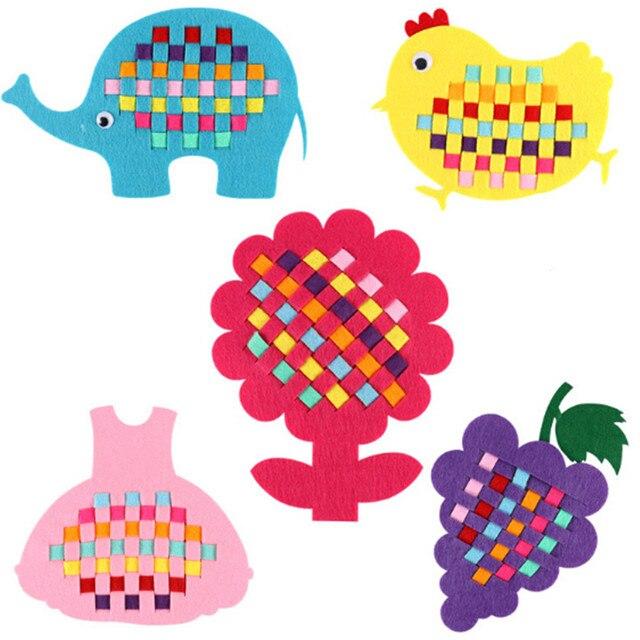 1pcs Kindergarten Manual Weave Cloth Early Learning Education Toys Montessori Teaching Aids Math Toys Diy Handmade Crafts