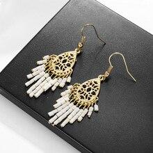 Hongye Statement Earrings Vinatge Geometric Tassel Earrings For Women Hanging Dangle Earrings Party Jewelry brincos N50 цена в Москве и Питере