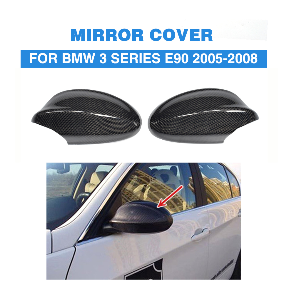 Carbon Fiber Replace type styling E90 car carbon mirror covers for BMW,auto carbon mirror fender for BMW E90 2005-2008 top quality e90 carbon fiber auto side mirror cover car mirror covers for bmw e90 car mirror caps