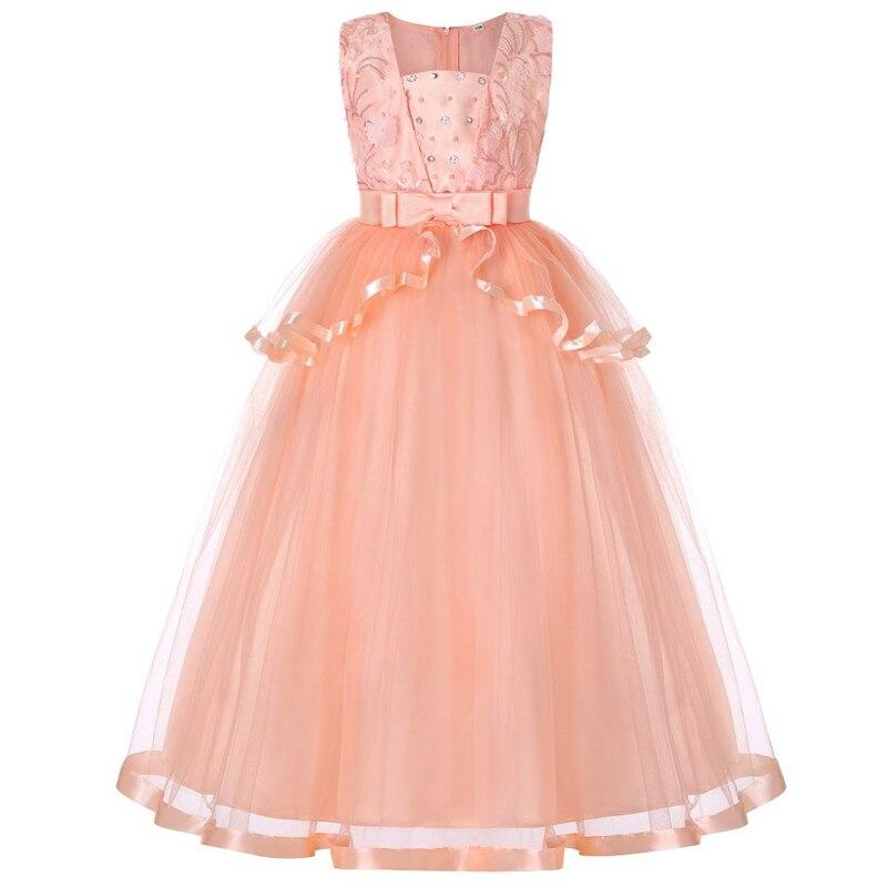 Kinder Hochzeit Sommer Party Kleider Für Mädchen Geburtstag Prinzessin Kleidung Kinder Kleinkind Elegante Formale Vestido Infant 3-14 jahre
