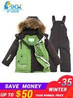2019 marca de lujo SP-SHOW niños invierno traje chaqueta niño y niña abrigos niños ropa conjuntos esquí abajo y parkas 0167