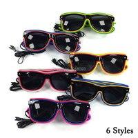 Venta Gafas EL Wire baratas de 30 piezas con Cristales oscuros nuevo diseño hecho a mano gafas