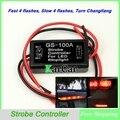 12 V Do Carro do Flash Strobe Módulo de Controlador Flasher para LED Adicionais Luzes de Freio Luzes de Stop, motocicleta Luz de Freio Lâmpadas