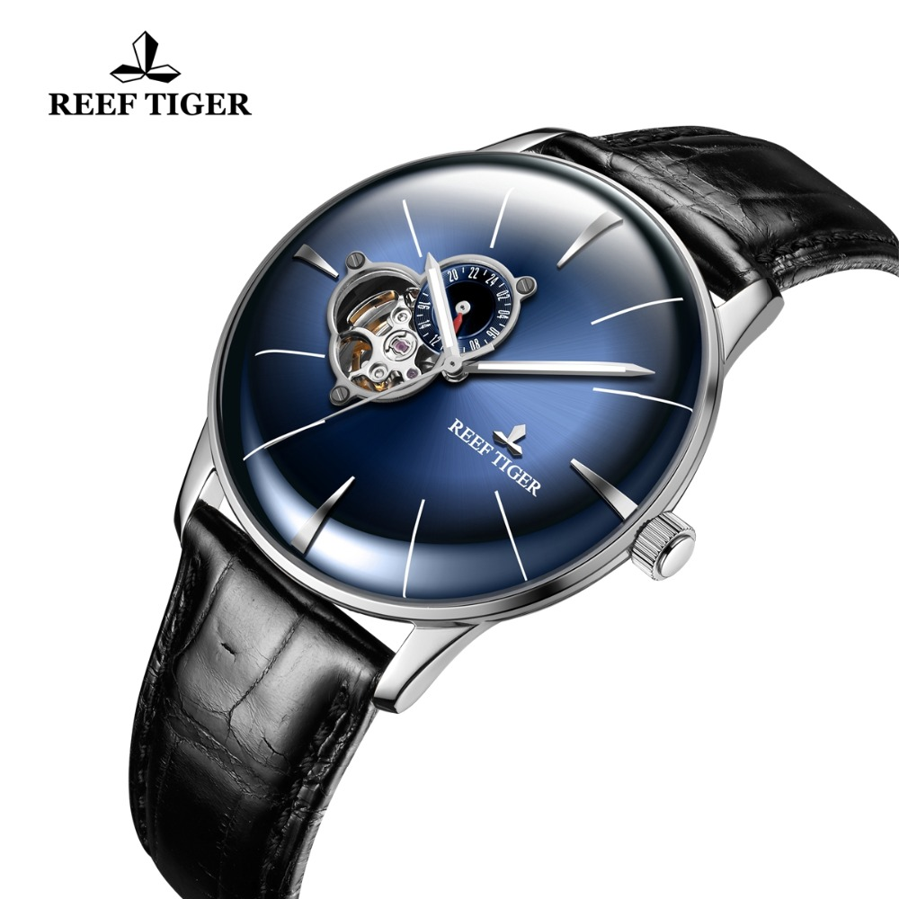 Reef Tiger/RT Blue Automatic Watch Men Luxury Brand Casual Watches Leather Strap Tourbillon Watch 2019 Relogio Masculino RGA8239Reef Tiger/RT Blue Automatic Watch Men Luxury Brand Casual Watches Leather Strap Tourbillon Watch 2019 Relogio Masculino RGA8239