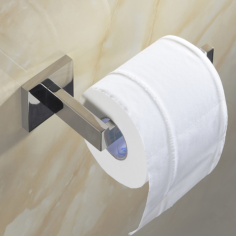 SUS 304 Stainless Steel Toilet Paper Holder Bathroom Roll For Towel Square Accessories