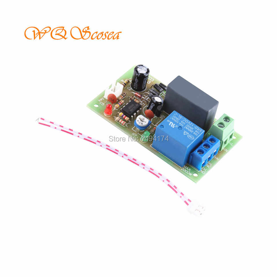 WQScosea Q8S-285 AC 220V 230V 240V Trigger 0-5 Min Delay Timer Timing  Switch Time Relay NE555 Power-ON Delay OFF-ON Board Module