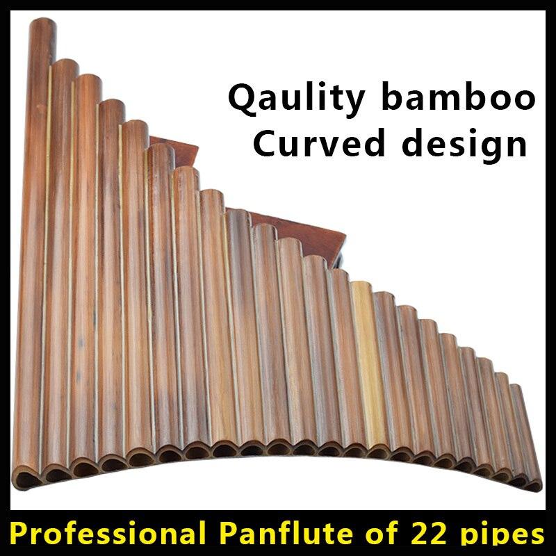 22 труб свирель Профессиональный Бамбуковые флейты Пан Флейта музыкальный инструмент пан flauta изогнутые поперечный Этническая Instrumento музыка