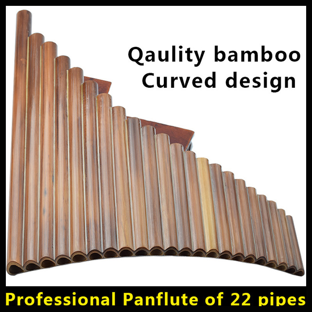 22 pipes Panpipes Professional Bamboo Flute Panflute Musical Instrument Pan Flauta Curved Transverse Ethnic Instrumento Musical