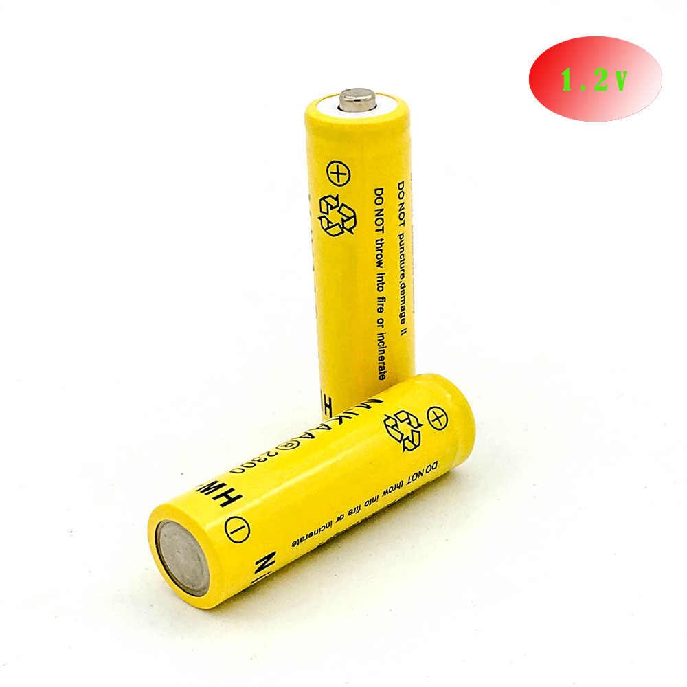 1 шт. AA Перезаряжаемые Батарея Ni-MH 1,2 В 2300 мАч Ni-MH 2A Bateria Перезаряжаемые батареи для Камера игрушки