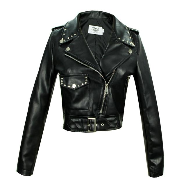 Wholesale England style Locomotive style pu leather jacket female was thin slim retro jacket ins fashion jackets wq1727 factory