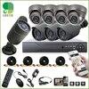 8pcs Full 720P1 MP AHD Camera 8CH Surveillance System AHD DVR KIT CCTV Video Recorder Home