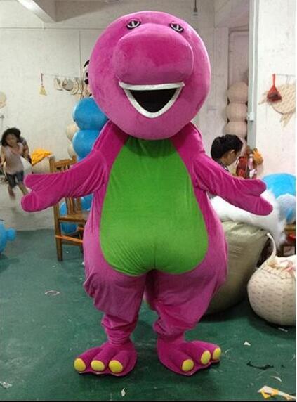 Costumes de mascotte de bande dessinée de grande qualité Barney sur la taille adulte livraison gratuite cadeaux de vacances Costumes de mascotte