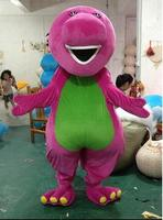 High quality large Barney Cartoon Mascot Costumes on Adult Size Free Shipping Holiday gifts Mascot Costumes