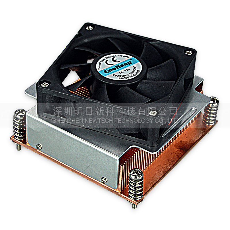 1.5U  CPU cooler radiator Copper heat sink for server Intel 1366 1356 Active cooling computer cooler radiator with heatsink heatpipe cooling fan for hd6970 hd6950 grahics card vga cooler