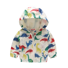 bc80440e7 80-130 cm dinosaurio Primavera de abrigo de los niños de verano de los niños  de la chaqueta de los muchachos abrigos niño activo.
