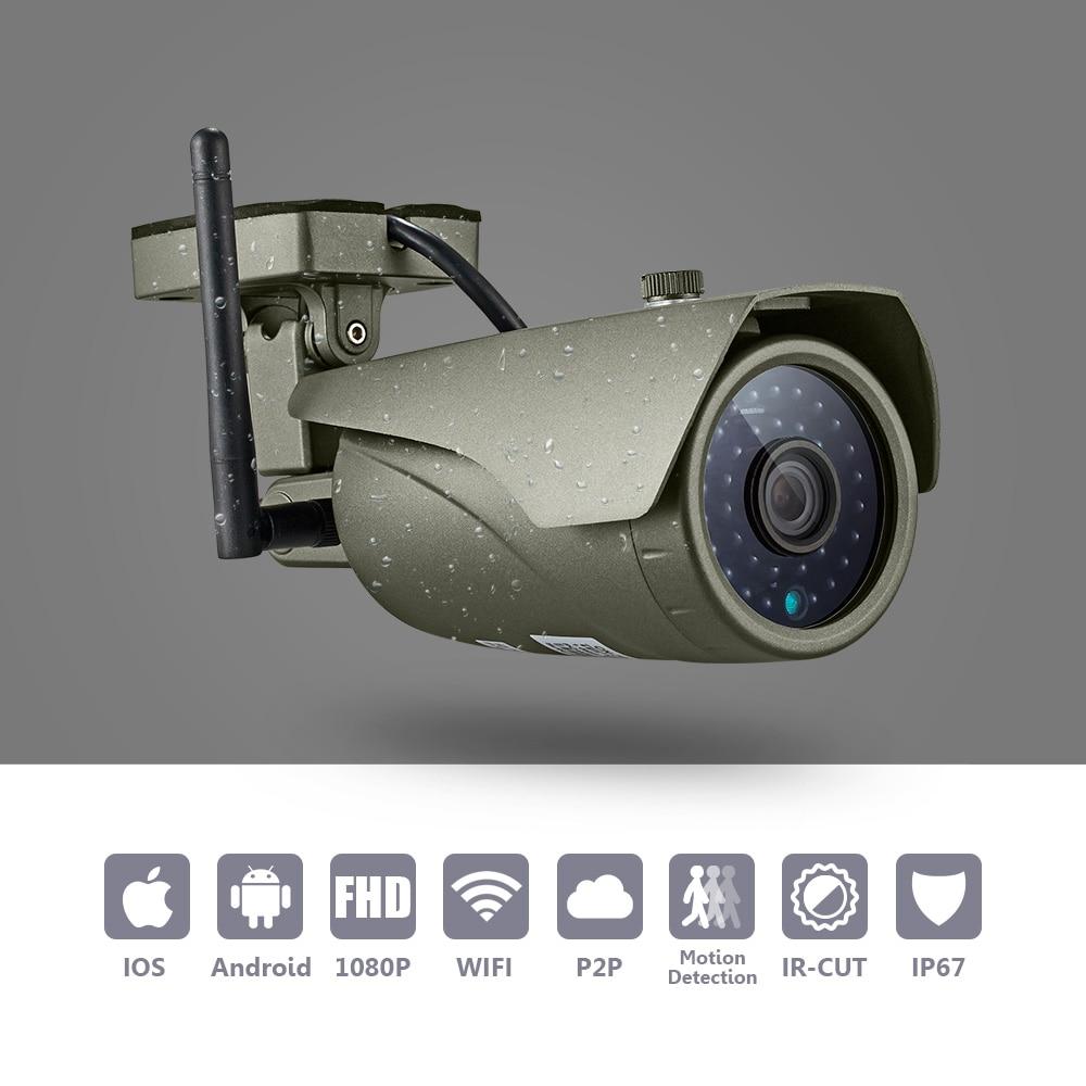 1080 p completo hd wifi ip bala cctv câmera de visão noturna infravermelha segurança vigilância vídeo ao ar livre à prova de intempéries ir câmera
