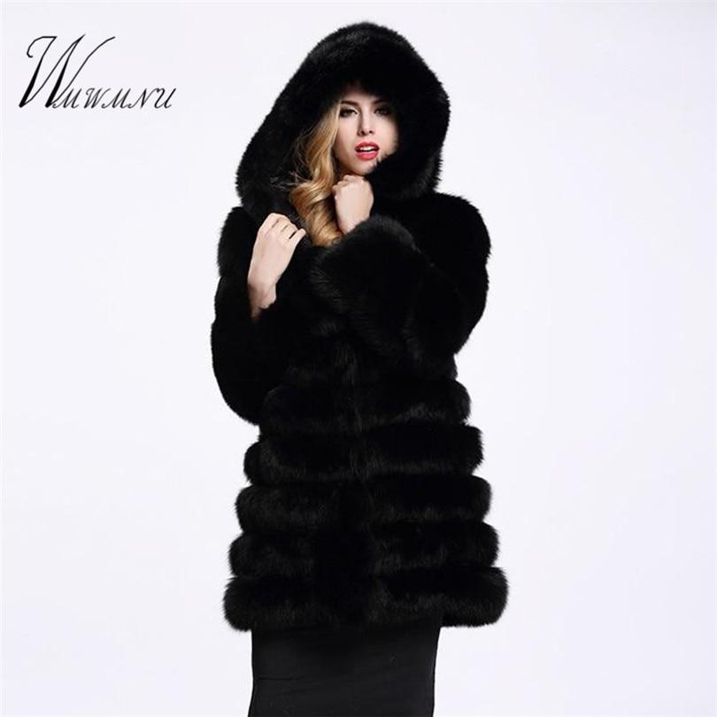 Faux Fox Fur Coat 1
