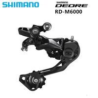 Original Shimano DEORE Bicycle RD M6000 GS/SGS Shadow Bike Rear Derailleur Medium Long Cage|Bicycle Derailleur|Sports & Entertainment -