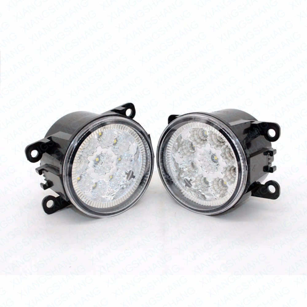 LED Front Fog Lights For OPEL Vectra C GTS Hatchback 2002-2007 2008 Car Styling Round Bumper DRL Daytime Running Driving car styling led fog lights for vauxhall vectra mk ii c gts hatchback 2005 2008 fog lamps 10w drl 1set