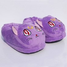 Anime cartoon Sailor Moon Luna cat Plush Slipper warm Indoor shoes winter 11inch