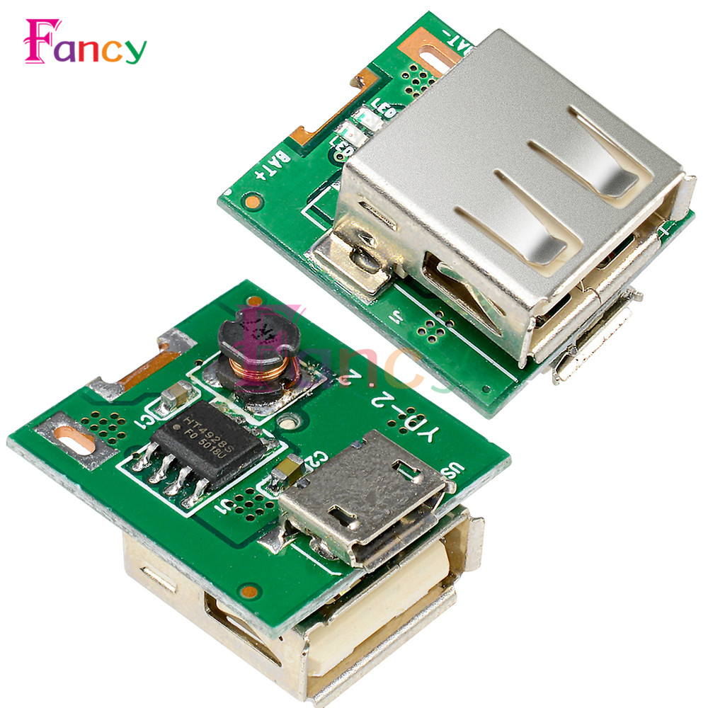 10Pcs 5V Step-Up Power Module Lithium Battery Charging Protection Board Boost Converter LED Display USB For DIY Charger 134N3P