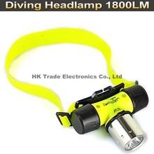 Diving Headlamp XML T6 1800 lumen LED Headlamp Swimming Underwater 50M Headlight Head Lamp Flashlight