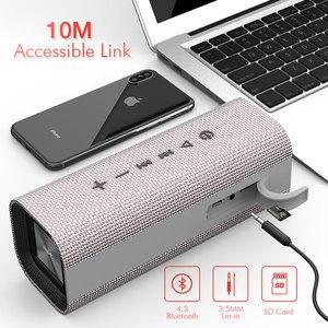 Image 3 - HAVIT 휴대용 블루투스 스피커 야외 서브 우퍼 3D 스테레오 라우드 스피커 마이크가있는 무선 스피커 마이크 SD 카드 AUX M16