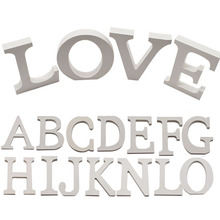 Hot Sale 28 Styles Height 10cm Thick Wood Wooden White Letters Alphabet Wedding Birthday Party Decortion