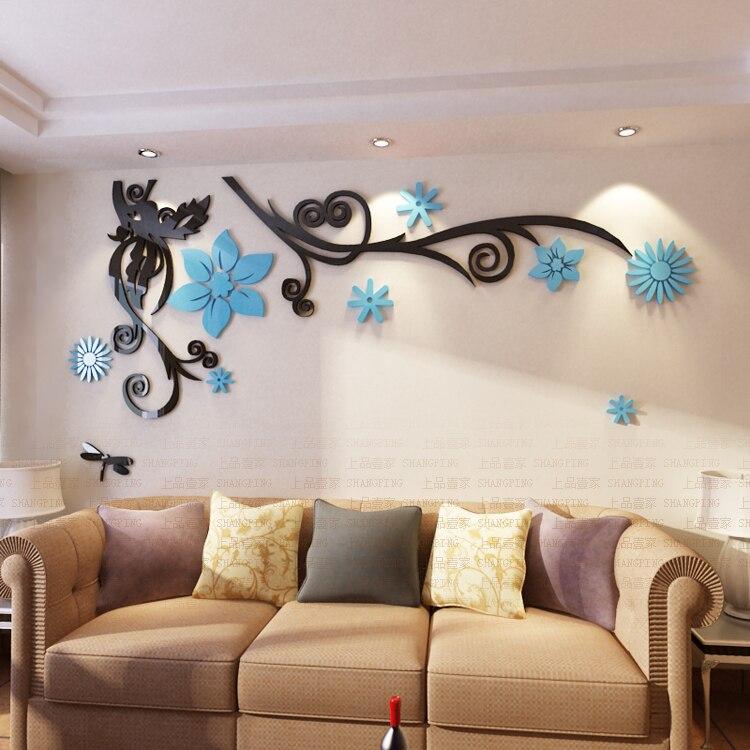 Անվճար առաքում 3D ծաղիկ Arcylic պատի - Տնային դեկոր - Լուսանկար 4